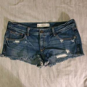 Abercrombie dark wash denim cutoff shorts 10